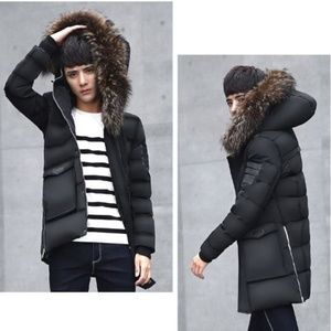 Other - Down Jacket Men's Coat Casual Outerwear Warm Fur